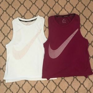 2 Nike Dri-Fit Tanks